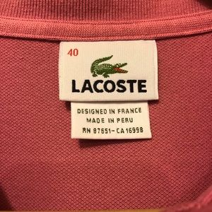 Lacoste Tops - Lacoste long sleeve polo